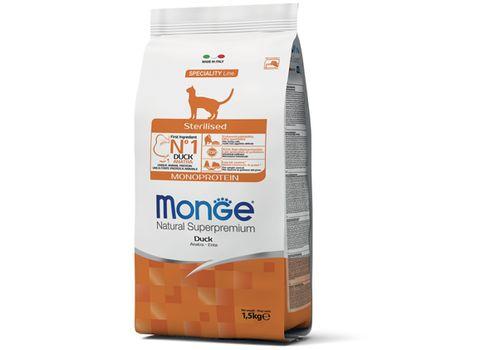 Monge Cat Monoprotein Sterilised Duck 1.5 кг, фото 1